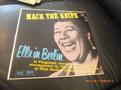 Vinilo Lp De Mack The Knife-- Ella In Berlin ( U724