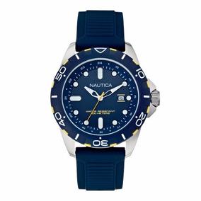 Relógio Nautica N11616g Masculino Esporte Pulseira Silicone
