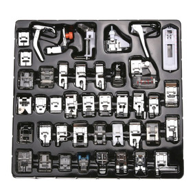 Kit 42 Calcadores Para Maquinas Domesticas + Haste+3 Agulhas