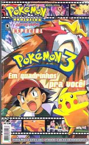 3 Revistas Pokémon Club Evolution- Anime 2000 + Atividades