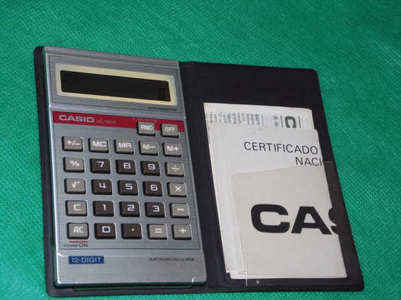 Caculadora Casio Mod Lc-1210 Display Fraco -dismac-hp-sharp-