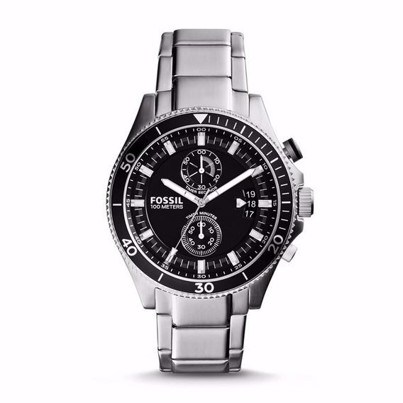Relógio Fossil Masculino Cronografo Ch2935/1pn Aço