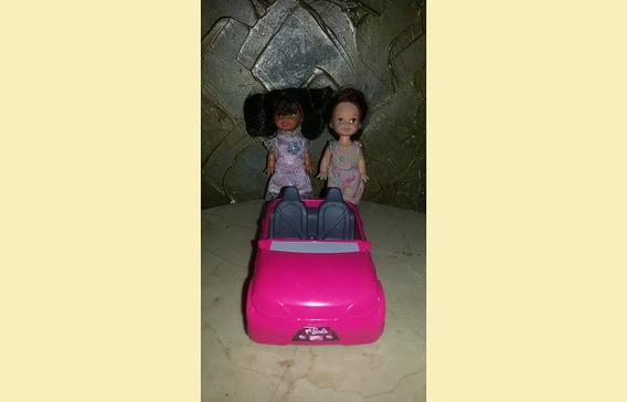 Lote 2 Bonecas Kelly Irmã Da Barbie Carrinho Mattel