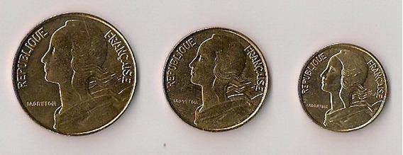 Monedas De Francia 5, 10 Y 20 Centimes 1997/98 Sin Circular!