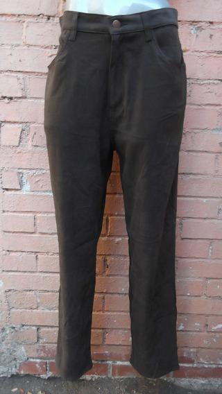 Pantalon Jeans Billblas Talla Mediano 32 Mex. Café Stretch