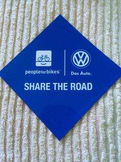 Mini Placa Imantada Para Bikers Vw Share The Road Das Auto