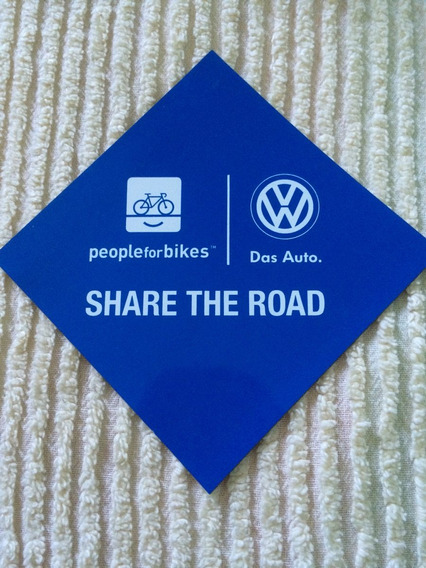 Mini Placa Imantada Para Bikers Vw Share The Road Das Auto
