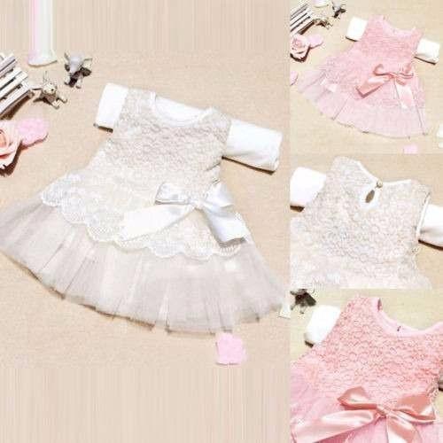 Vestido Renda Bebê Importado Festa!