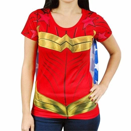 Disfraz Dc Comics Wonder Woman Sublimated Womens Caped