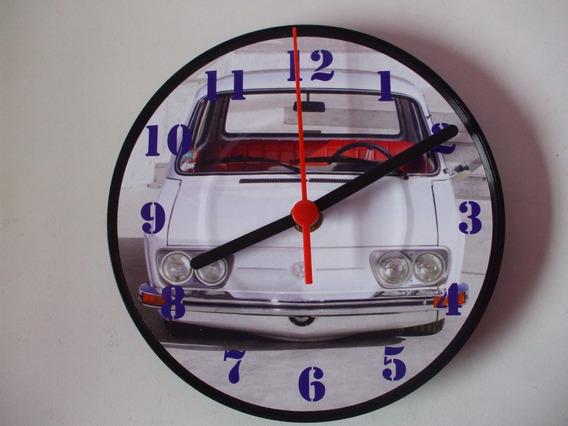 Brasilia Fusca Karmanghia Relógio De Parede