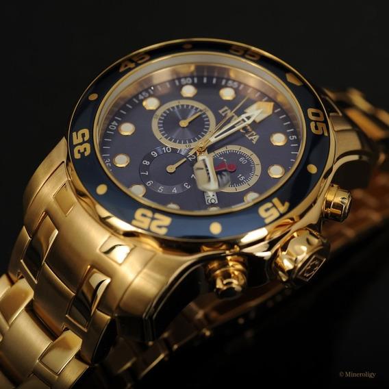 Relógio Invicta 0073 Banhado Ouro 18k Original - Promoção