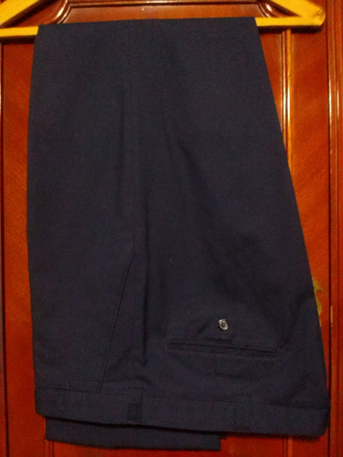 Pantalon De Vestir T.48, De Verano, Azul. Spencer Como Nuevo