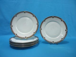 Juego 6 Platos Llanos Porcelana Limoges Union Ceramique