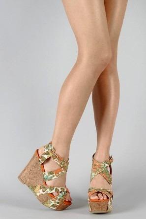 Zapatos Usa Sandalias 8 Cuña Stock 38 Mujer Corcho Moderno wN8mn0