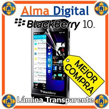2x Lamina Protector Pantalla Transparente Blackberry Z10 10