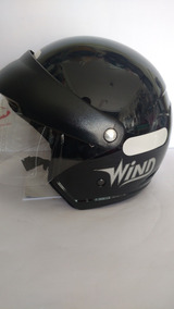 Capacete Taurus Wind V2 Com Visor - Preto Brilhoso -tam 58