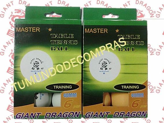 Pelotas De Ping Pong Giant Dragon Caja De Seis