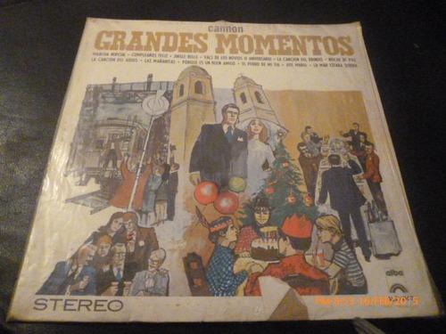 Vinilo Lp De Grandes Momentos  Cannon ( U951