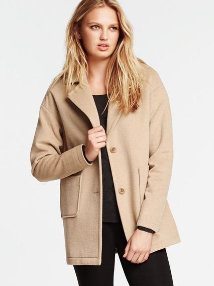 Abrigo Victoria Secret Cocoon Coat Talla 0 Mex Ch-m Amplio