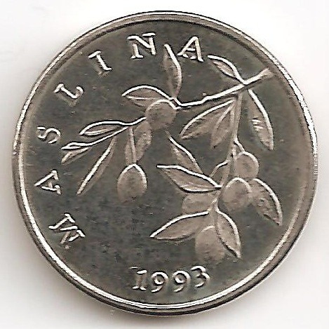 Croacia, 20 Lipa, 1993. Brillante Sin Circular