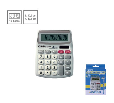 Calculadora De Mesa Cis C - 204 10 Digitos