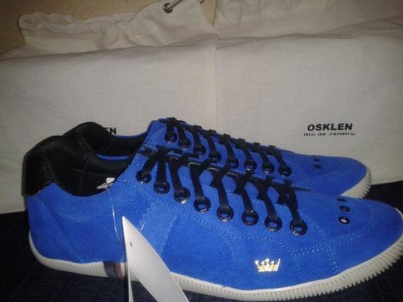 Tênis Osklen Azul Com Preto.