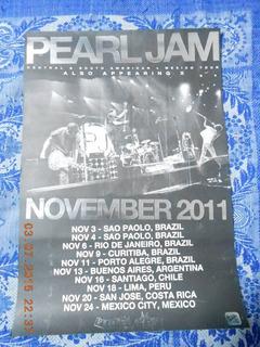 Afiche Pearl Jam Gira Latinoamerica 2011