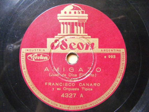 Listado Excel De Coleccion Discos De Pasta Francisco Canaro