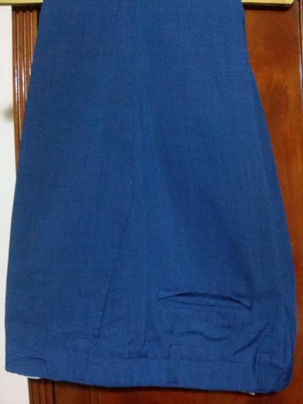 Pantalon De Vestir T.48, De Verano, Azul. Belfast Como Nuevo