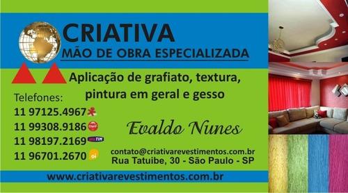 Imagem 1 de 10 de Serviços  Pintor Industrial Gesso Pv Areia-quartzo Granilha+