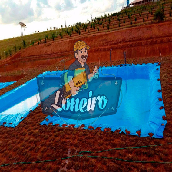 Lona Plástica Azul 7 X 5 Mts Lago Tanque Peixes Casa Jardim