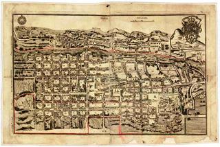 Lienzo Tela Canvas Mapa Ciudad De Querétaro 1796 50x75