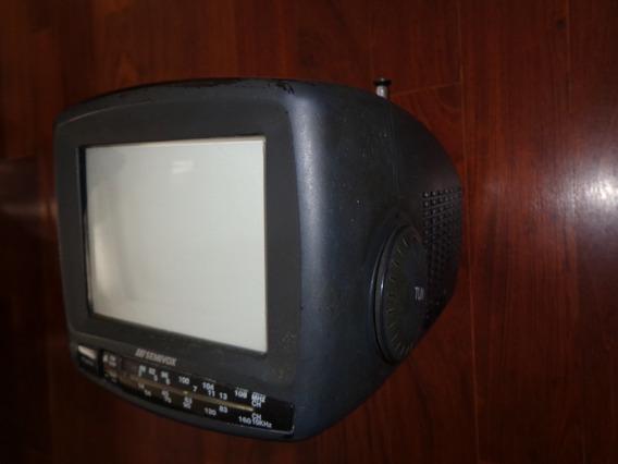 Tv 5p. Em Cores Entrada Av. P/ Receptor Digital, Rádio Am Fm
