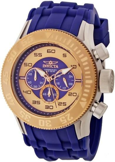 Invicta 14981 Pro Diver Besel Em Ouro 18kt 100% Original!
