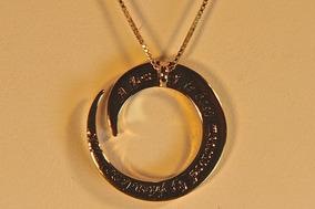 Rsp J2954 Colar Pingente Prata 925 Rev A Ouro Com Mantra