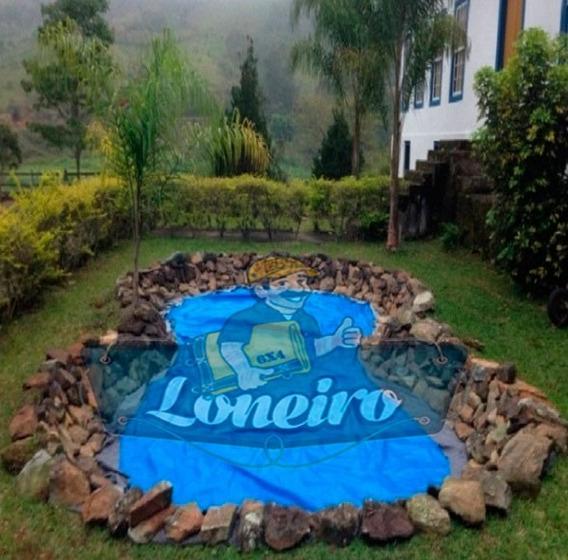 Lona Plástica Azul 3 X 3 Lago Tanque Peixes Cisterna 300mic