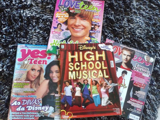 Kit Revistas High School Music + Zac Efron E Pôsters