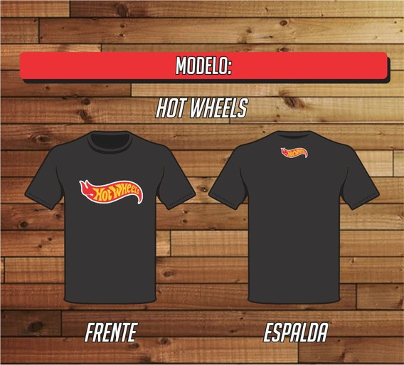 Remera Hot Wheels 100% Algodon - Reforzada Xxl