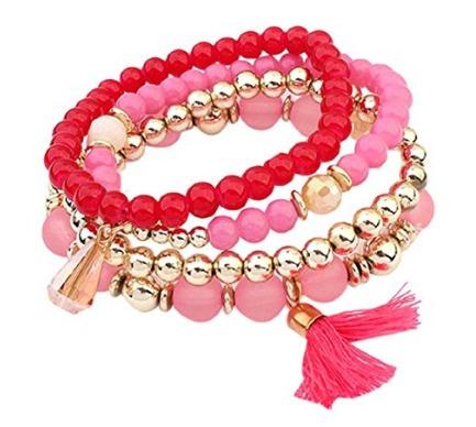 Pulseira De Camadas Pink - Glam0014