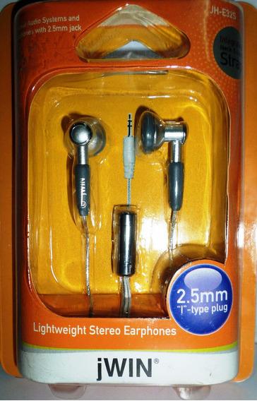 Audifonos Jwin 2.5 Mm Stereo