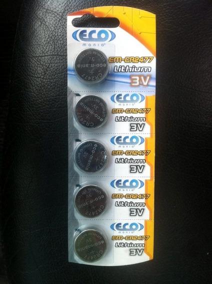 Bateria Eco Mania Em-cr2477 Lithium 3v 10 Cartela C/ 5pcs