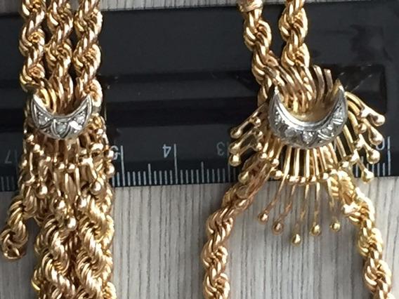 Colar-pulseira Ouro 18k-99.3gr.colar:42cm.pulseira:20cm.
