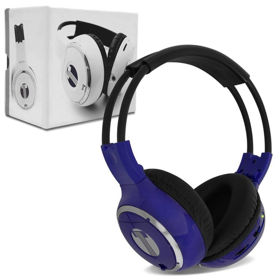 Fone De Ouvido Headphone Techone - Sem Fio P/ Dvd - Azul
