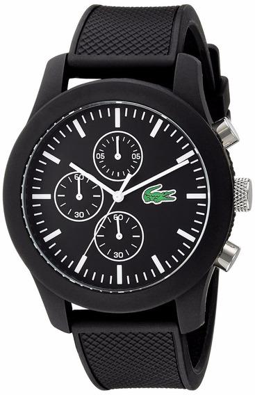 Reloj Lacoste Silicón Color Negro Cronógrafo Hombre 2010821