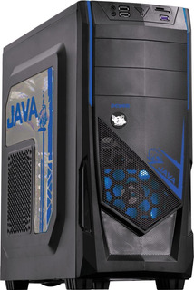 Gabinete Gamer Pcyes Java Com 2 Fans Lateral Em Acrílico Azul