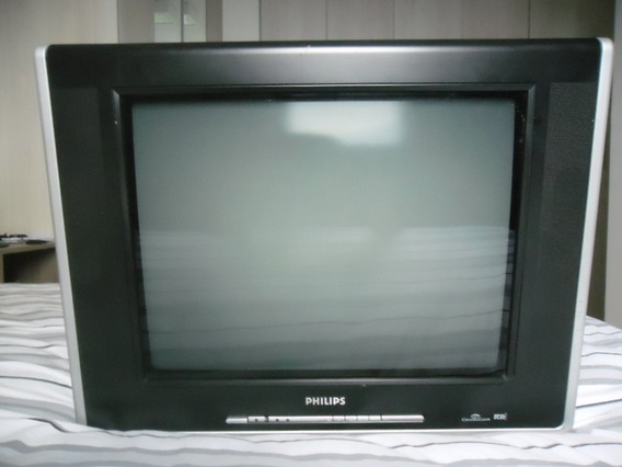 Tv Philips 21 Cristal Clear Real Flat 21pt Muito Conservada