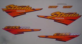 Kit Adesivos Honda Cbx 200 Strada 1997 Roxo