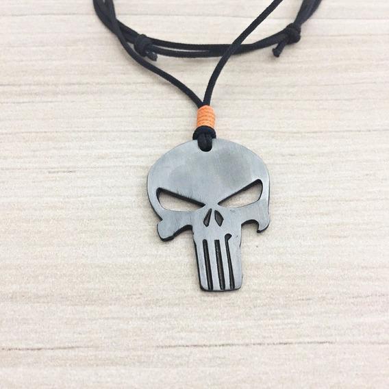 Colar Masculino Feminino Pingente Caveira Justiceiro Skull