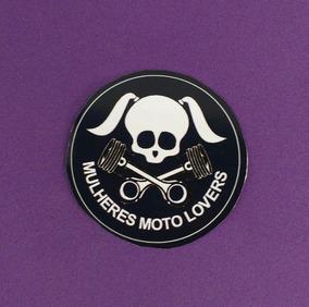 Adesivo Caveira Mulheres Moto Lovers Kit 05 Unidades