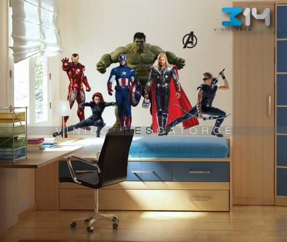 Vinilo Decorativo Avengers-i 01 Súper Héroes, Hulk, Thor.